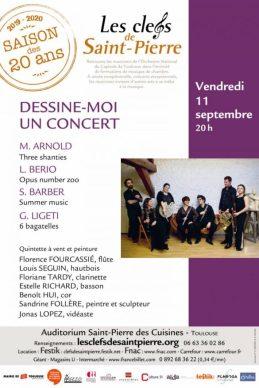 """Affiche Clefs de Saint Pierre """"Dessine oi un concert"""" 2020"""