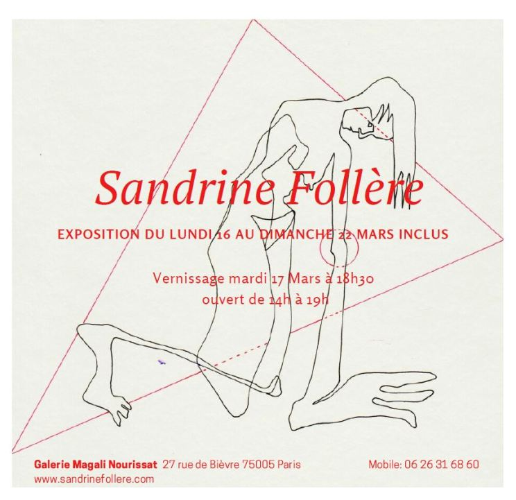 Exposition Paris - Galerie Magali Nourissat Paris - Site Sandrine Follere